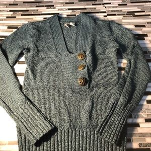 BKE green and black knit sweater